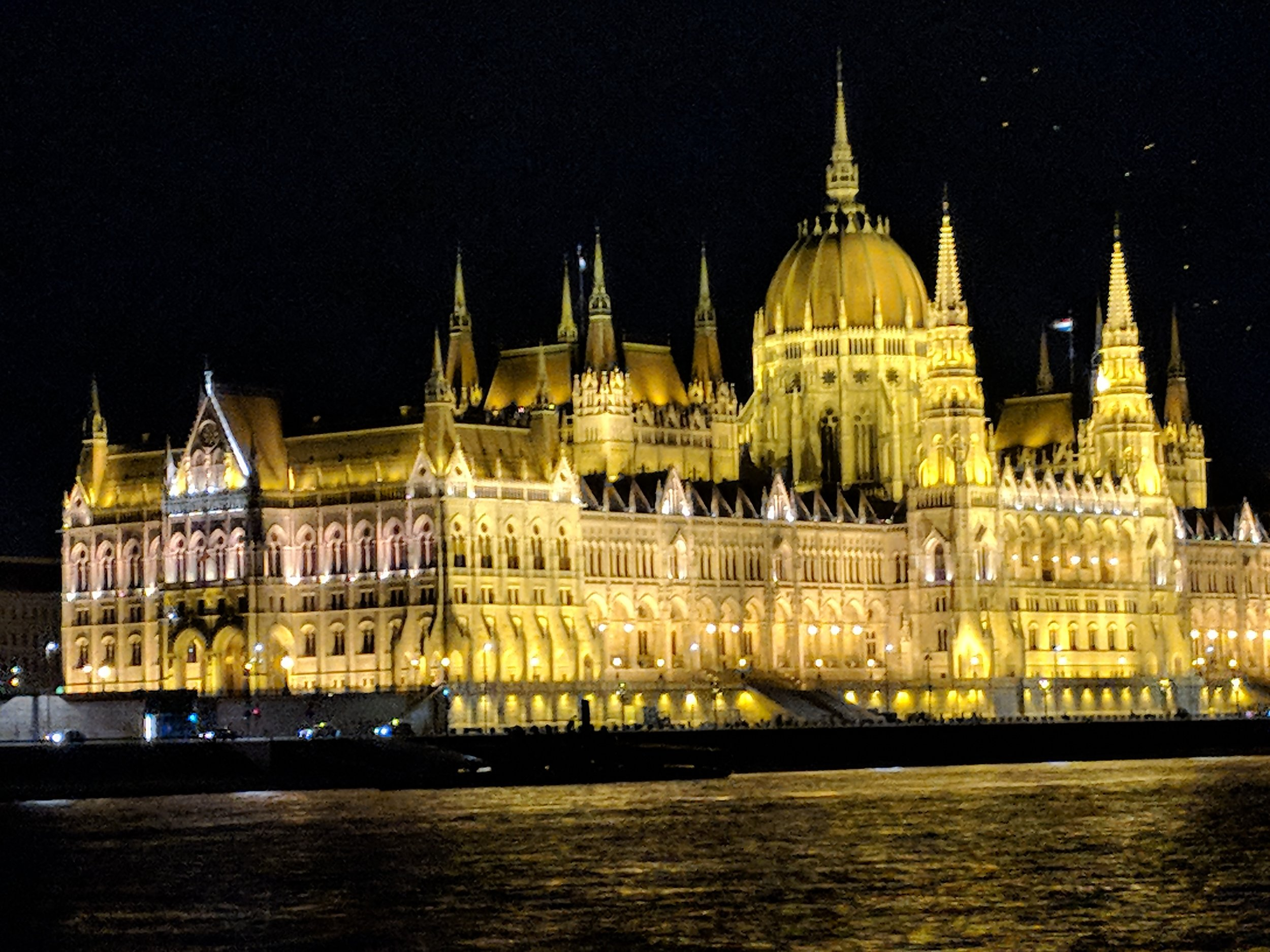 Nighttime ride on the Danube River