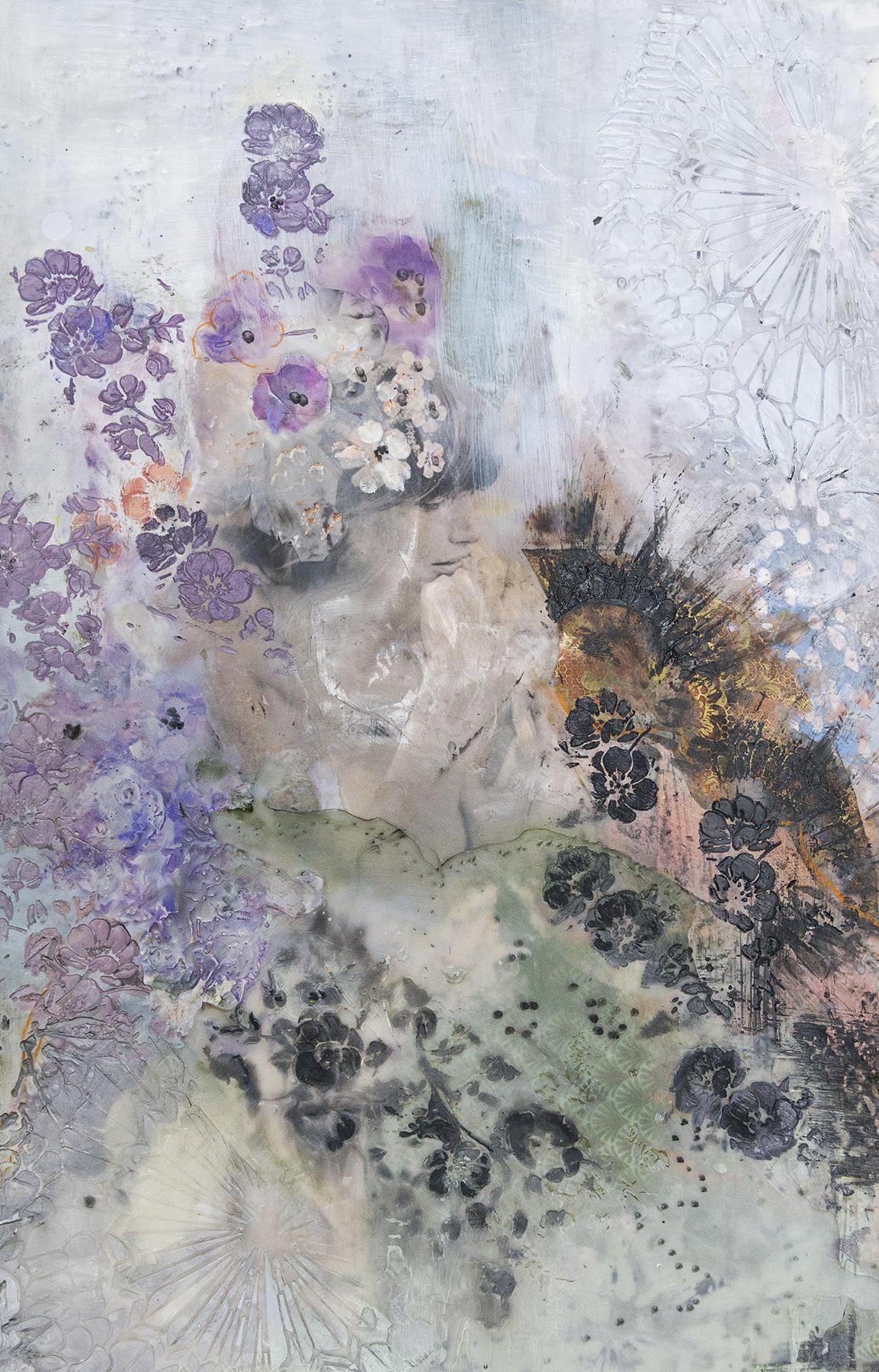 Lavender Fan, 16 x 24.5