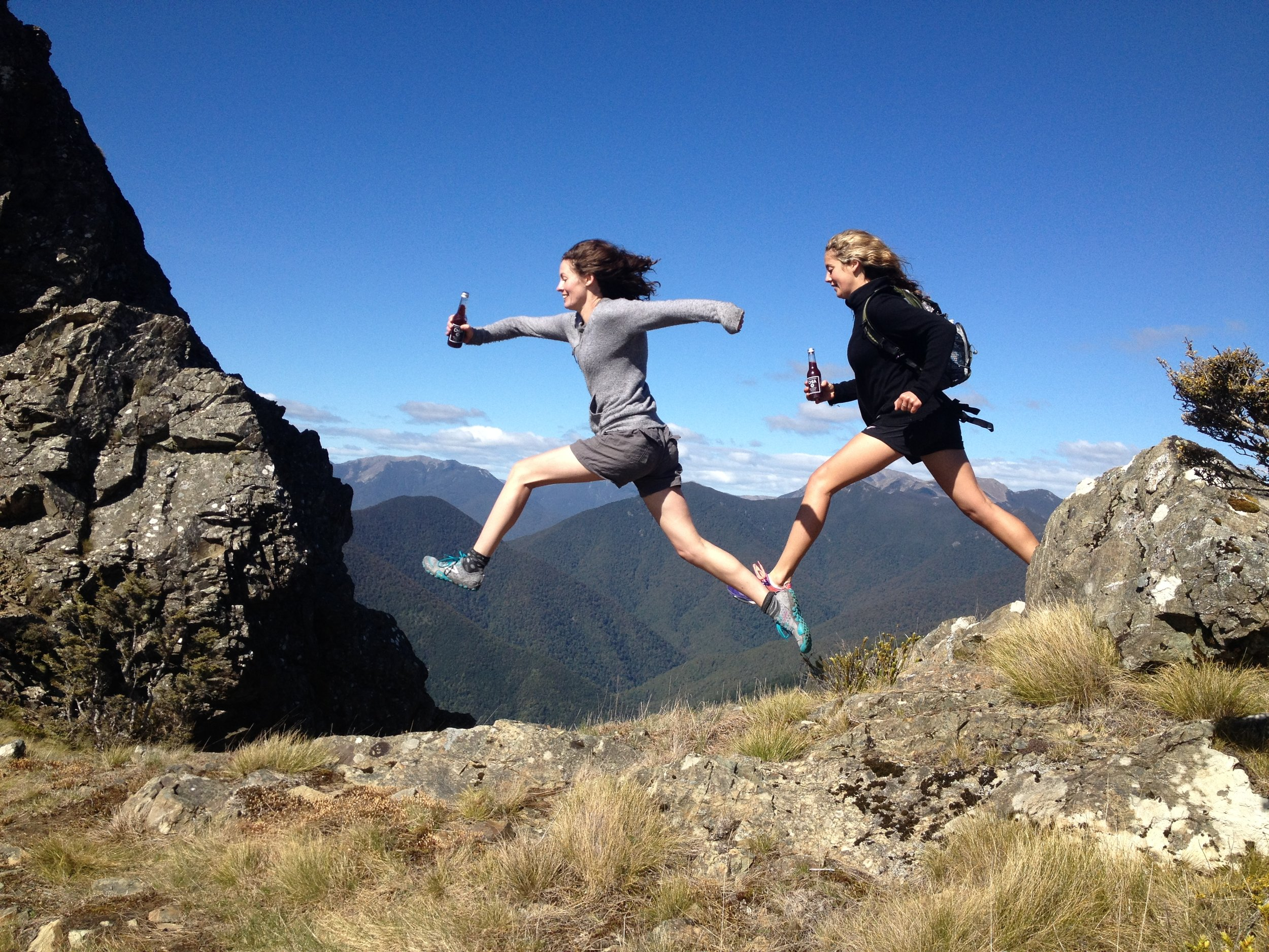 Chloe and Florence Van Dyke running Ben Nevis fuelled by Chia