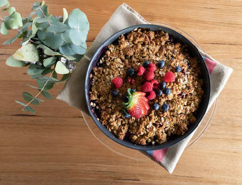 Apple and mixed berry crumble by Sunny Ridge Strawberry Farm -