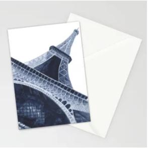 Blue Eiffel Tower Greeting Card |    $23.99