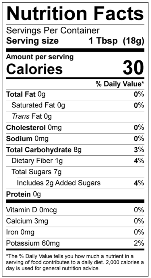 Ingredients: Dates, Water, Cocoa Powder, Organic Cane Sugar, Citric Acid    Manufactured in a facility that handles coconut, almonds, and products with gluten  Refrigerate after opening