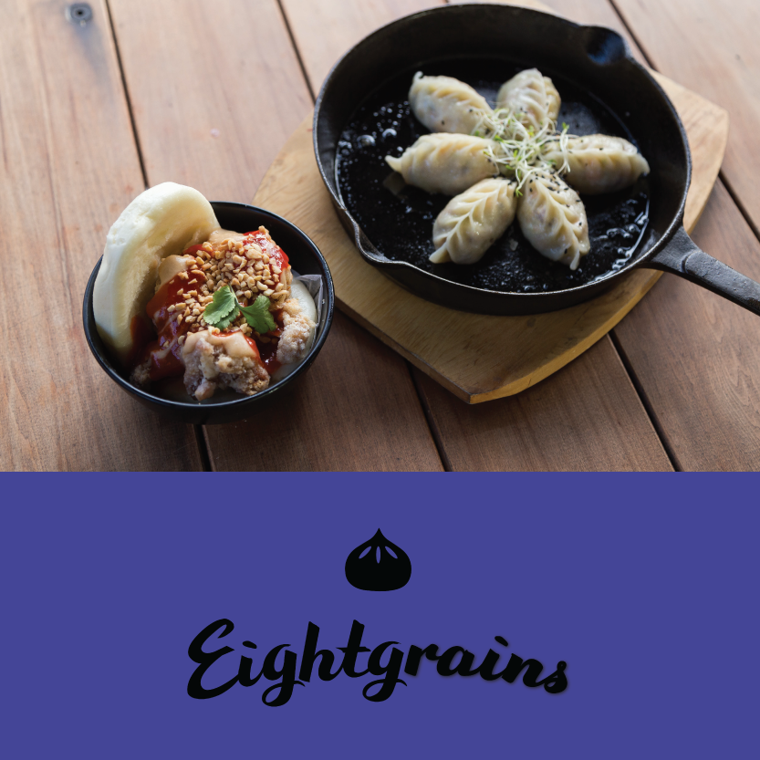 Eightgrains  ( Little High, 255 St Asaph St, Christchurch Central)   Lunch: Taiwanese open style soft steam bun with braised pork belly or sweet and spicy fried chicken, house made peanut sauce and pickles, fried shallots, topped with crushed nuts and coriander - plus half a dozen hand made dumplings. Dinner: Dan Dan noodles Sichuan style noodles with hot and spicy chilli sauce and braised grounded pork served with bean sprouts, bok choy; topped with fried onion, peanuts and coriander - plus a side of six dumplings, followed by vanilla or matcha soft serve / Beverage pair: Allan Scott Riesling