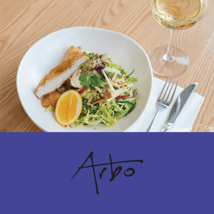 Arbo Cafe   (265 High Street, Christchurch Central)   Crispy chicken salad: with cabbage, apple & mint slaw, chilli & roasted peanuts