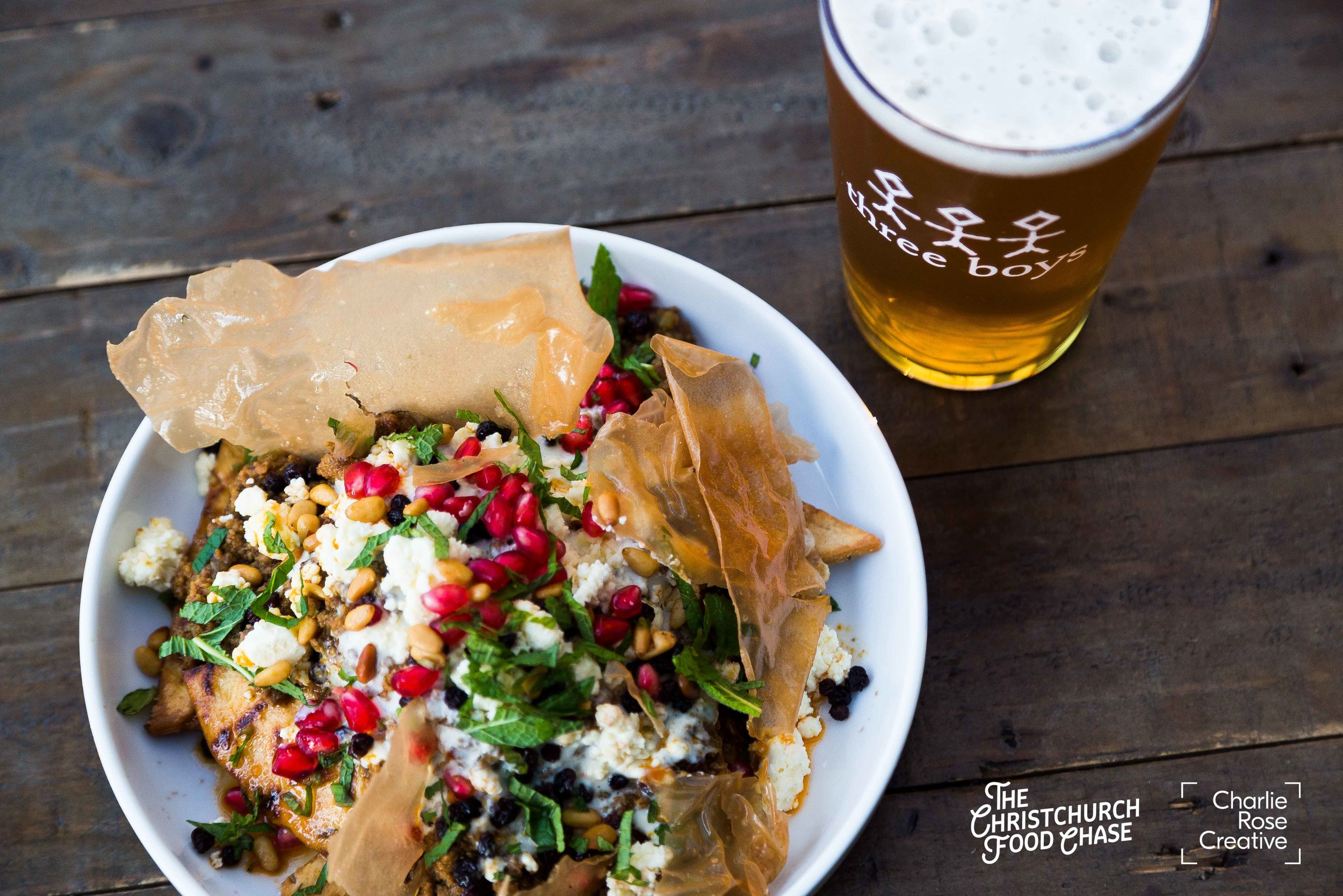 Best Local Beer Pairing: Welles Street - Middle East Feast with Three Boys Wheat Beer -