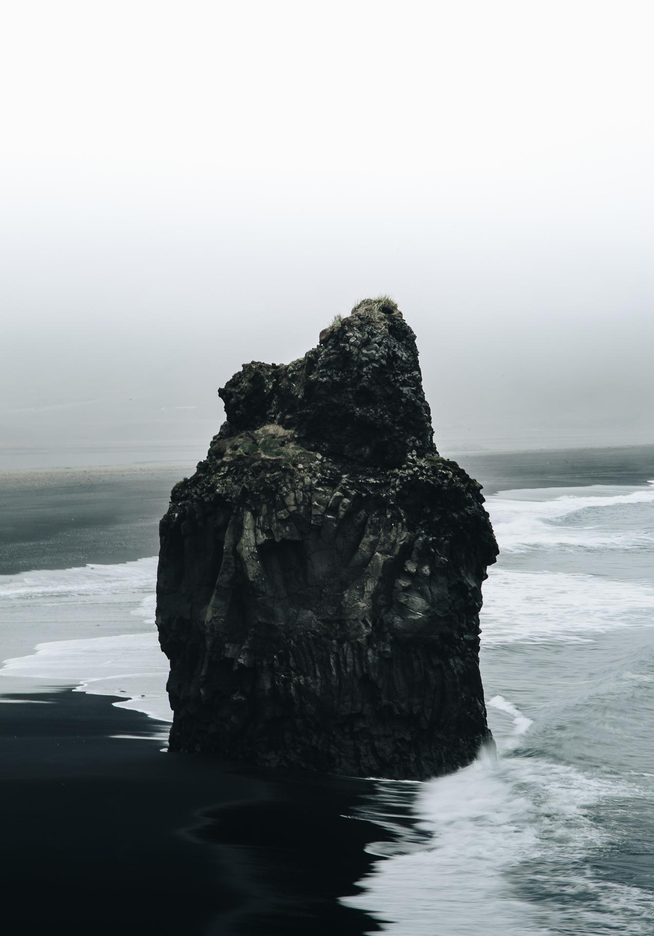 kirkjufjara beach iceland black
