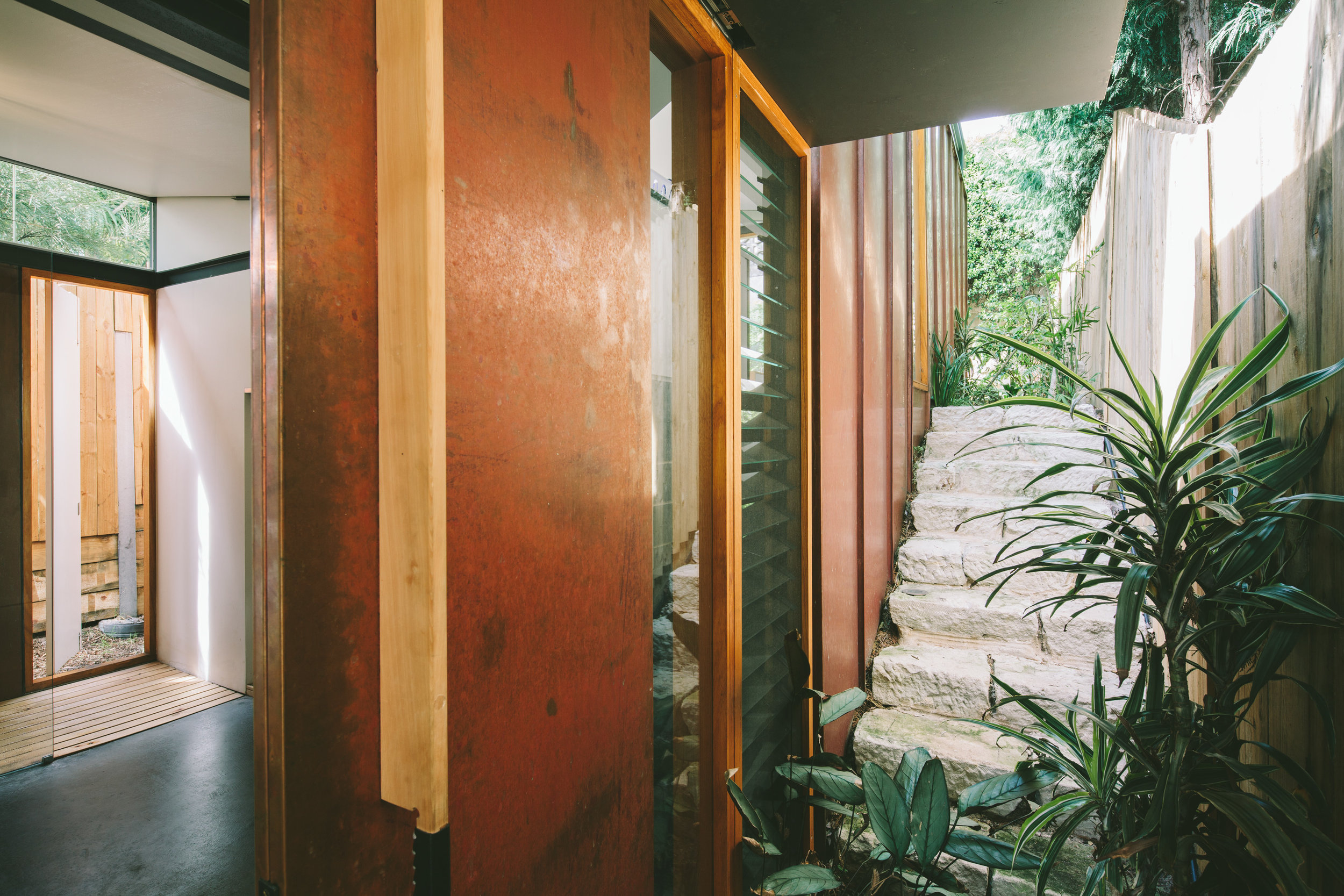 Takt copper house granny flat entry