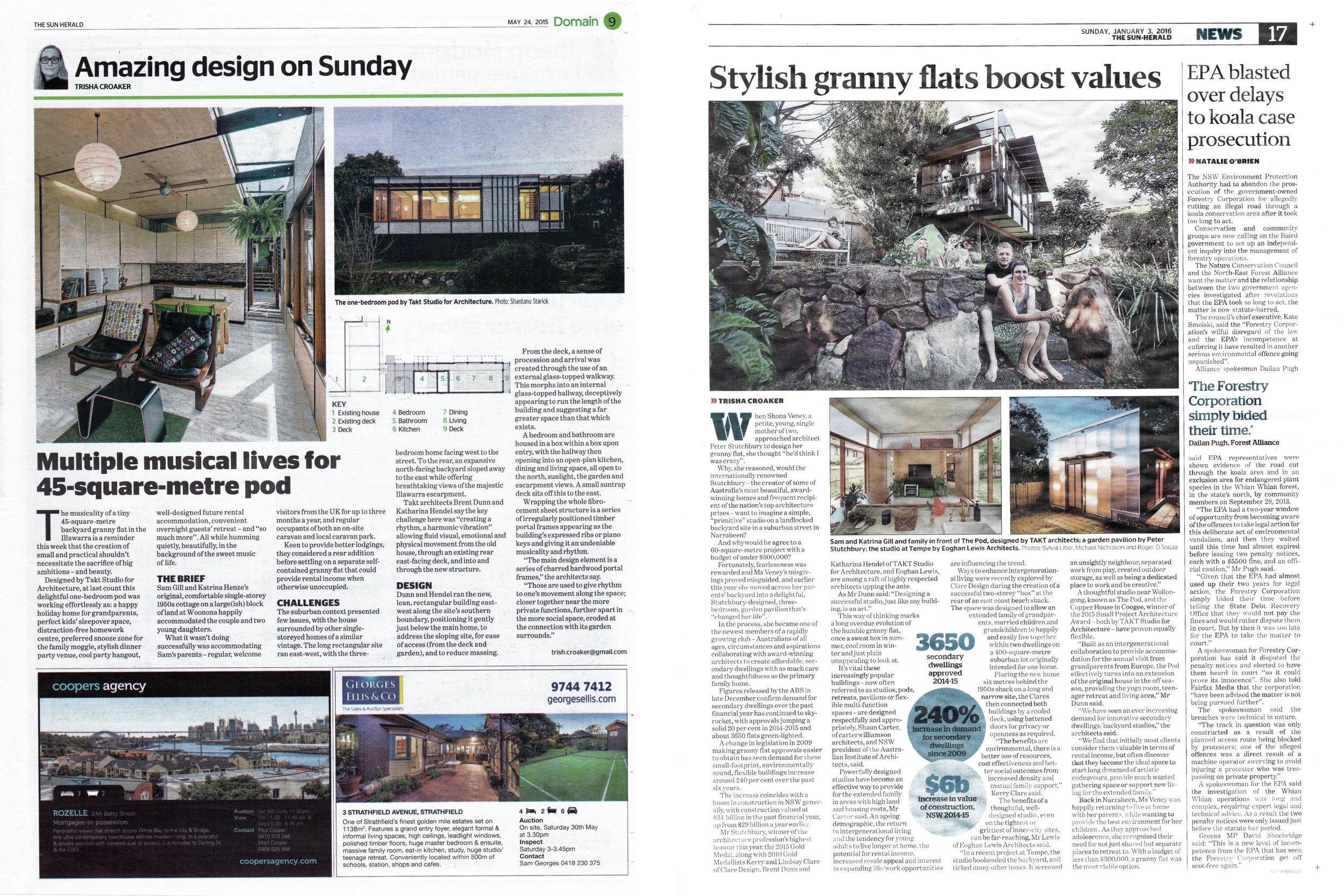 Sun Herald | Domain - The Pod Granny Flat