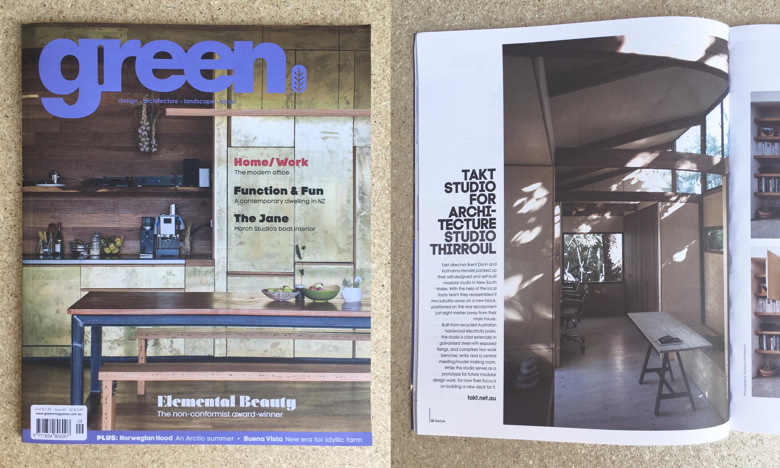 Green Magazine - Issue 45 - Takt Studio