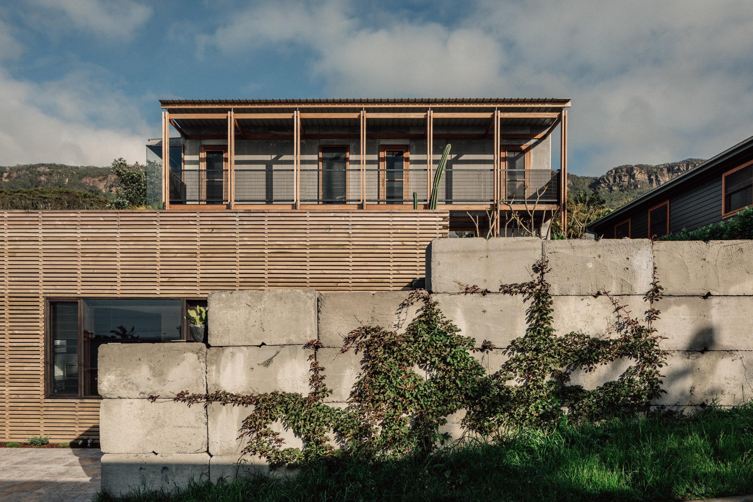 Takt Coledale Young Blade House elevation timber concrete blocks.jpg