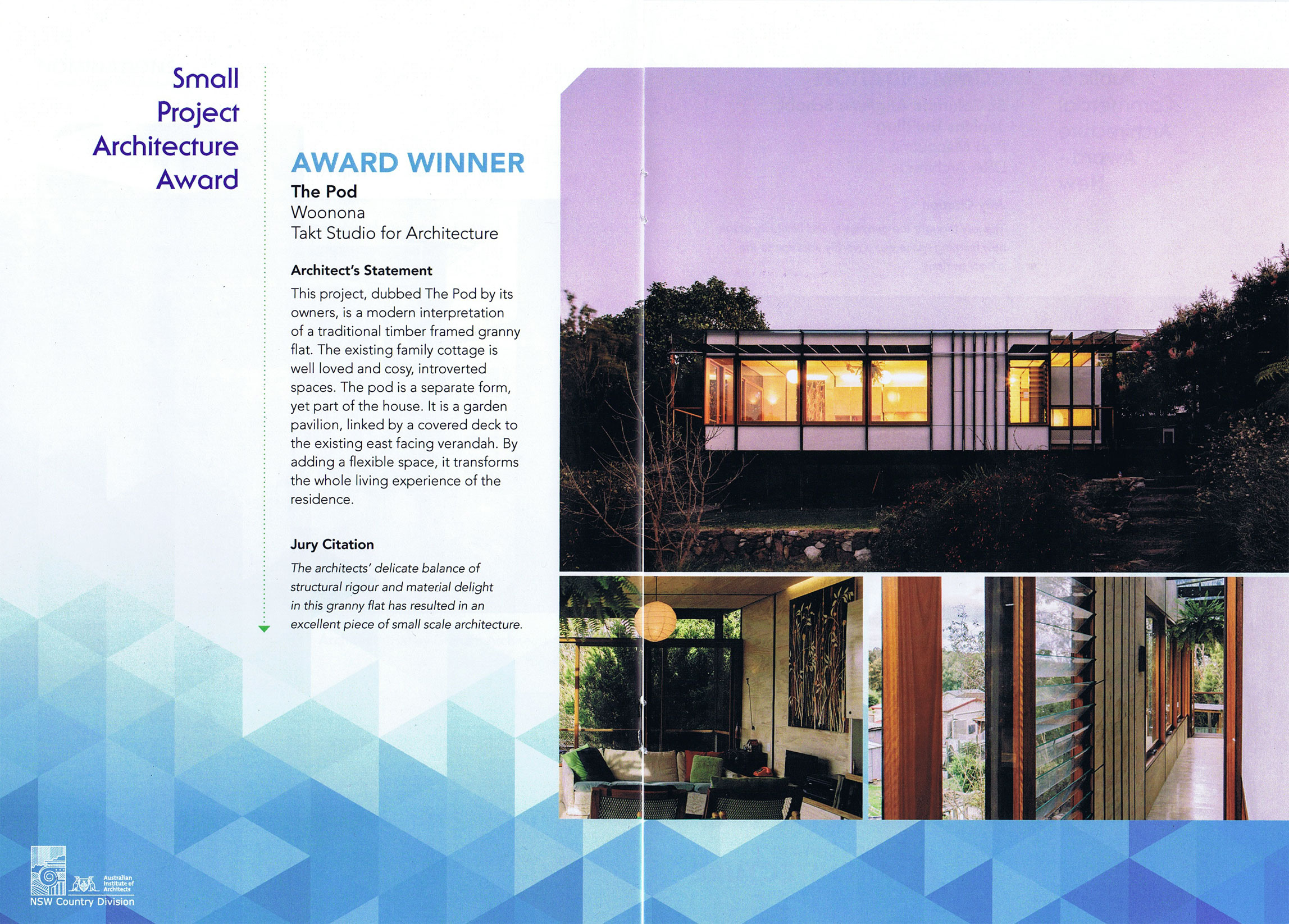 Small Project Award - AIA Country Division 2013 - The Pod - Woonona
