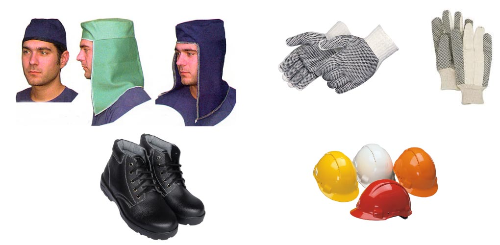 Safety Accessories - Welder Caps, Safety Gloves, Safety Shoes and Safety Helmets