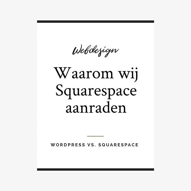Squarespace vs. Wordpress, wij leggen uit waar wij voor kiezen. Link in Bio.