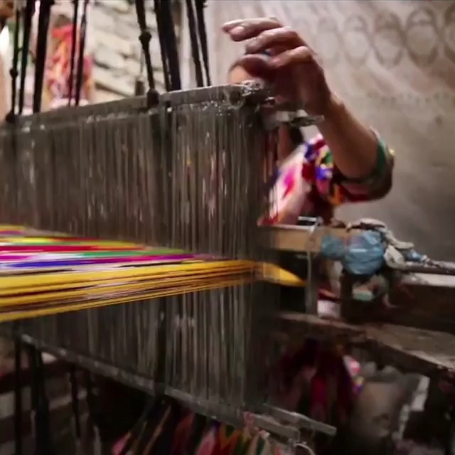 Part of the handmade process in creating our traditional Atlas Silk patterned material #UyghurAtlas Repost @uyghur_resim