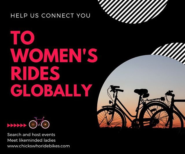 We love connecting women. To each other, to events, and to communities. ❤️ 🚲 . Head to our Chicks Who Ride Bikes website and check out our new events listing feature. Find and list events wherever you are on the globe and help the CWRB community grow. . Link in bio! . #cwrb #chickswhoridebikes #livelovelaughride #womenscycling #community