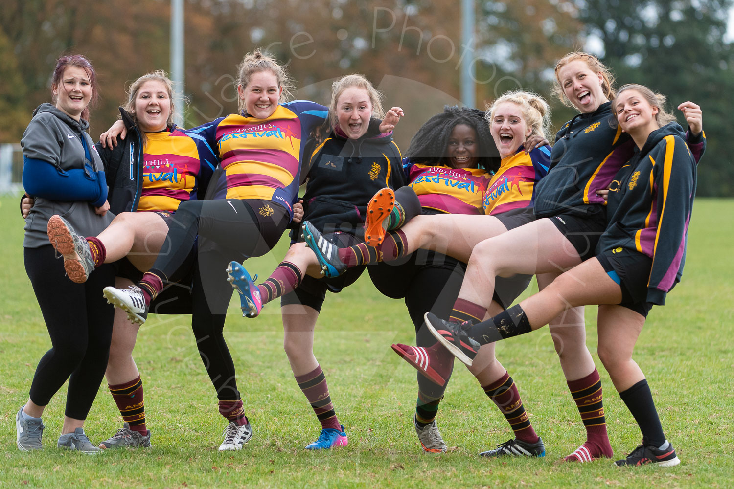 Ampthill U18 Girls let off steam… (Photo: Iain Frankish, Actuance Photography)