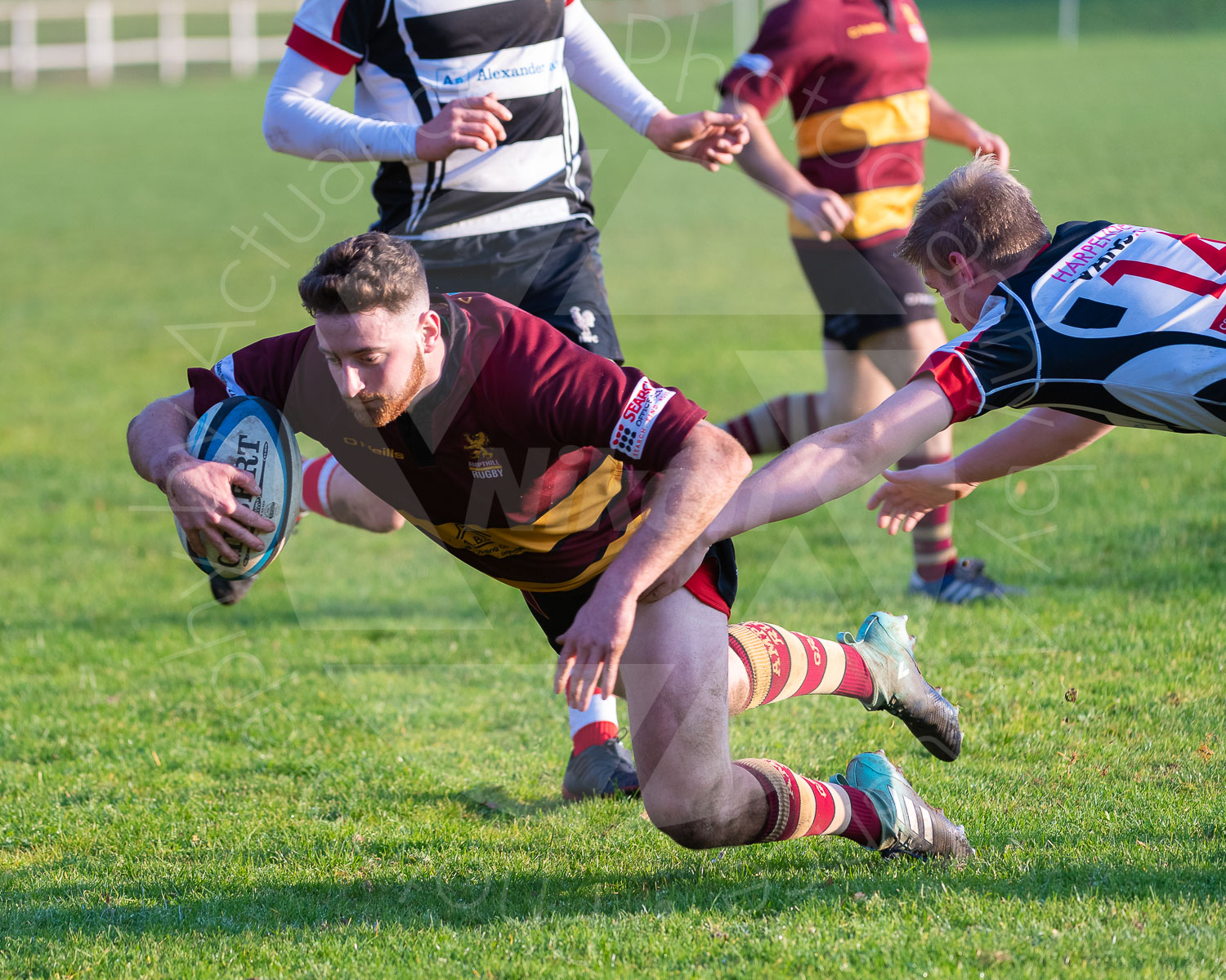 Will Norford crosses the line to open the scoresheet (Photo: Iain Frankish, Actuance Photography)