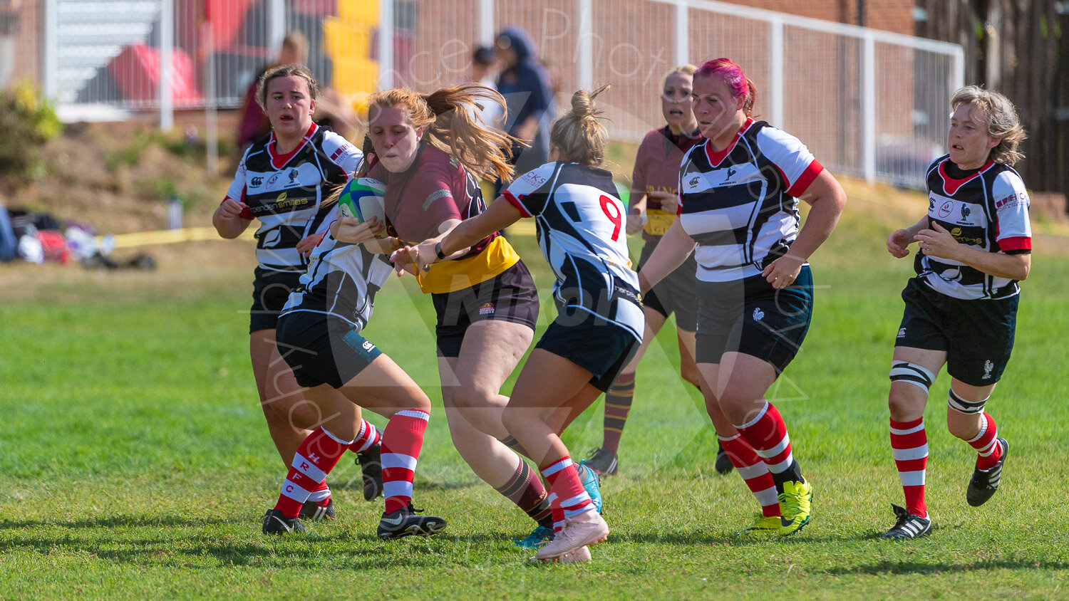 Bethan Scarr leads the charge down the field for Ampthill Ladies… (Photograph: Iain Frankish, Actuance Photography)