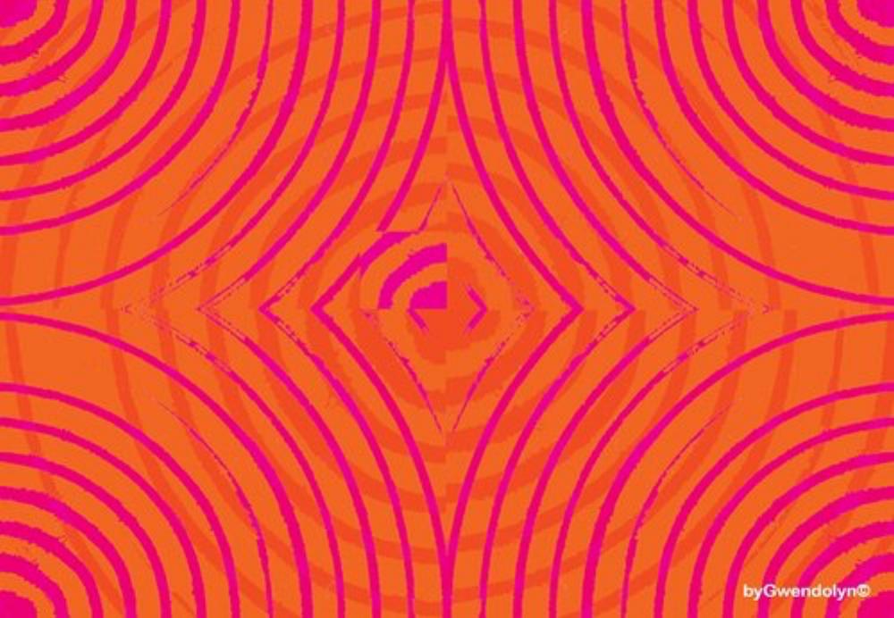 'Rhythm in Circles', textile design from the Rhythm & Flow series.