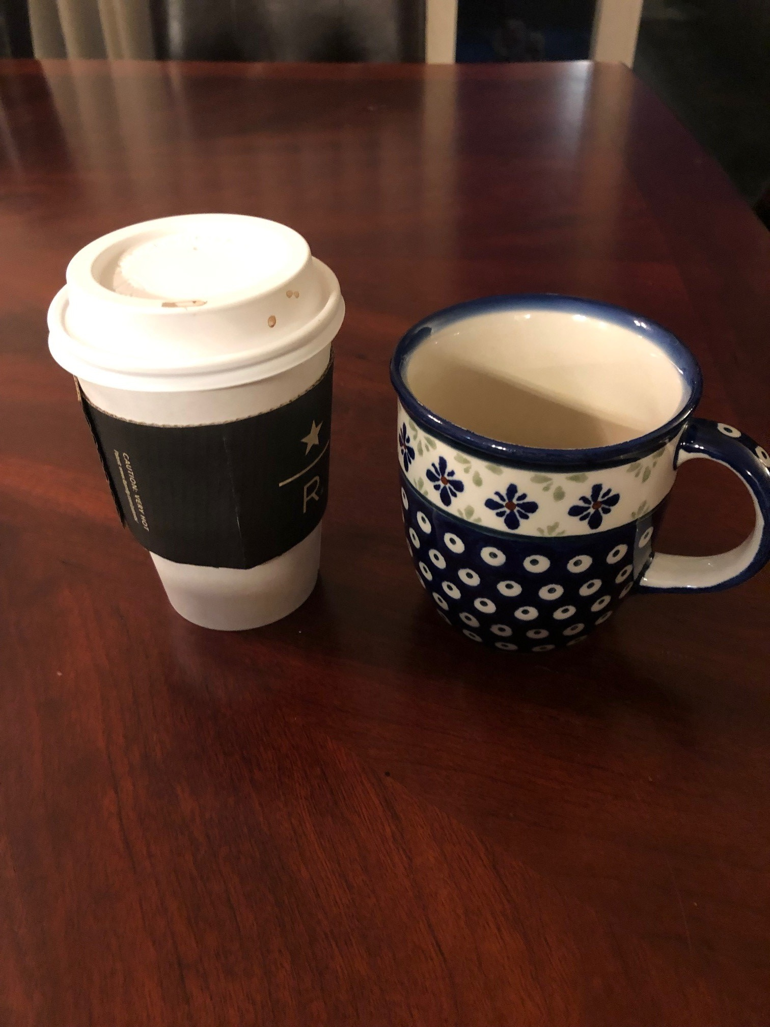 My daily coffee consumption would fill at least these two cups.