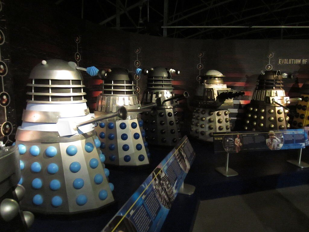 Dalek image by Nelo Hotsuma from Rockwall [CC BY 2.0 (https://creativecommons.org/licenses/by/2.0)]