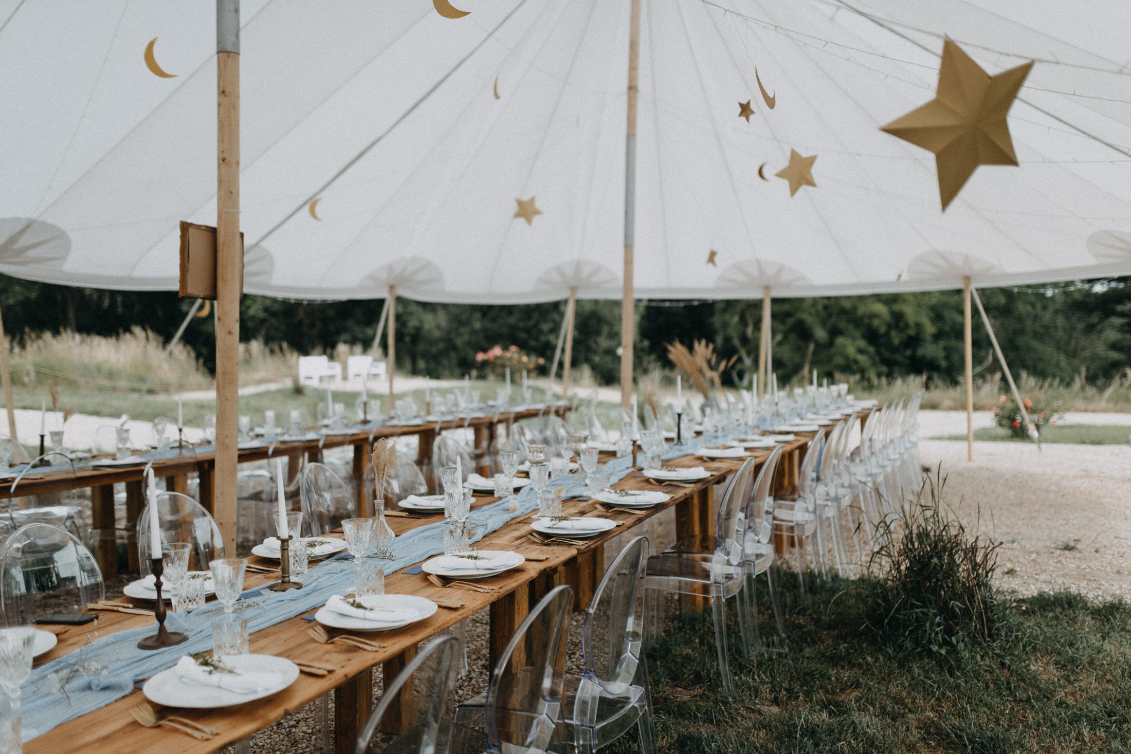 castle ruins wedding bedouin tent table setting