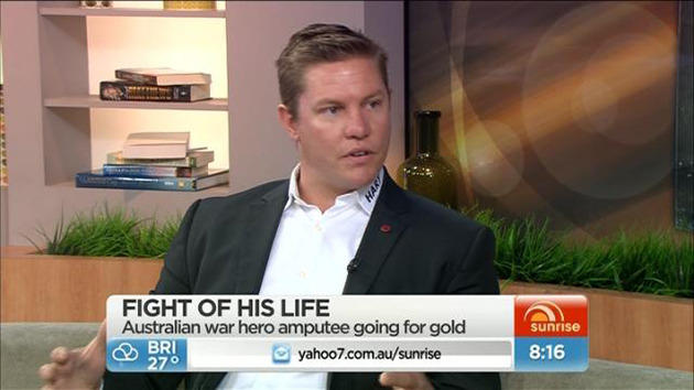On the Sunrise couch promoting his book 'Without Warning'