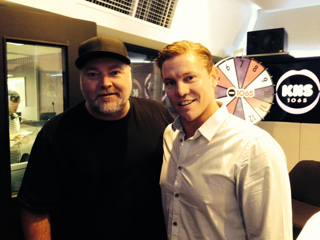 Damien with Kyle Sandilands and the KIIS 1065 team