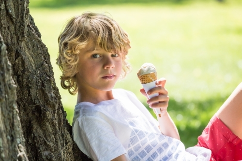 a-young-boy-sitting-against-a-tree-holding-an-ice-cream-austockphoto-000027199.jpg