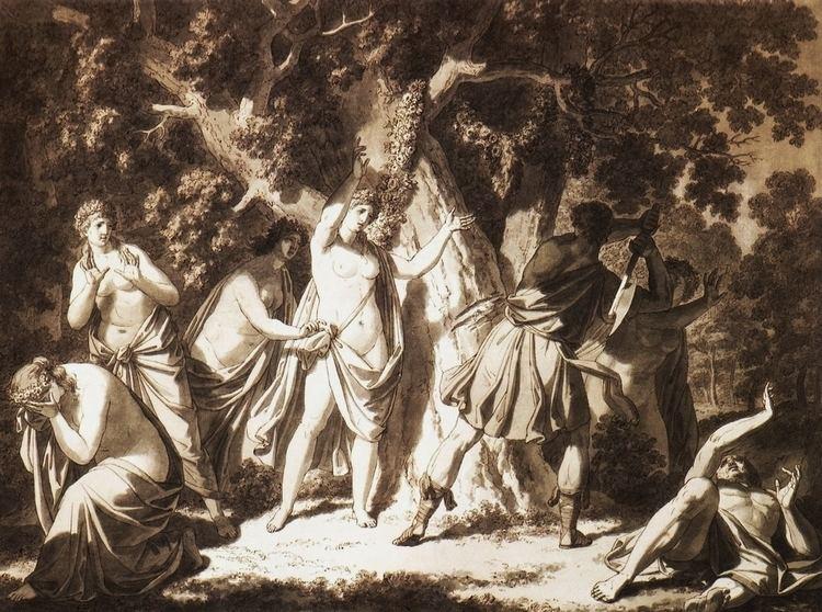Erysichthon cutting down the sacred oak
