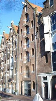 Location at Brouwersgracht, Amsterdam