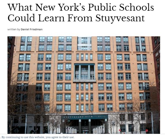What New York's Public Schools Could Learn from Stuyvesant