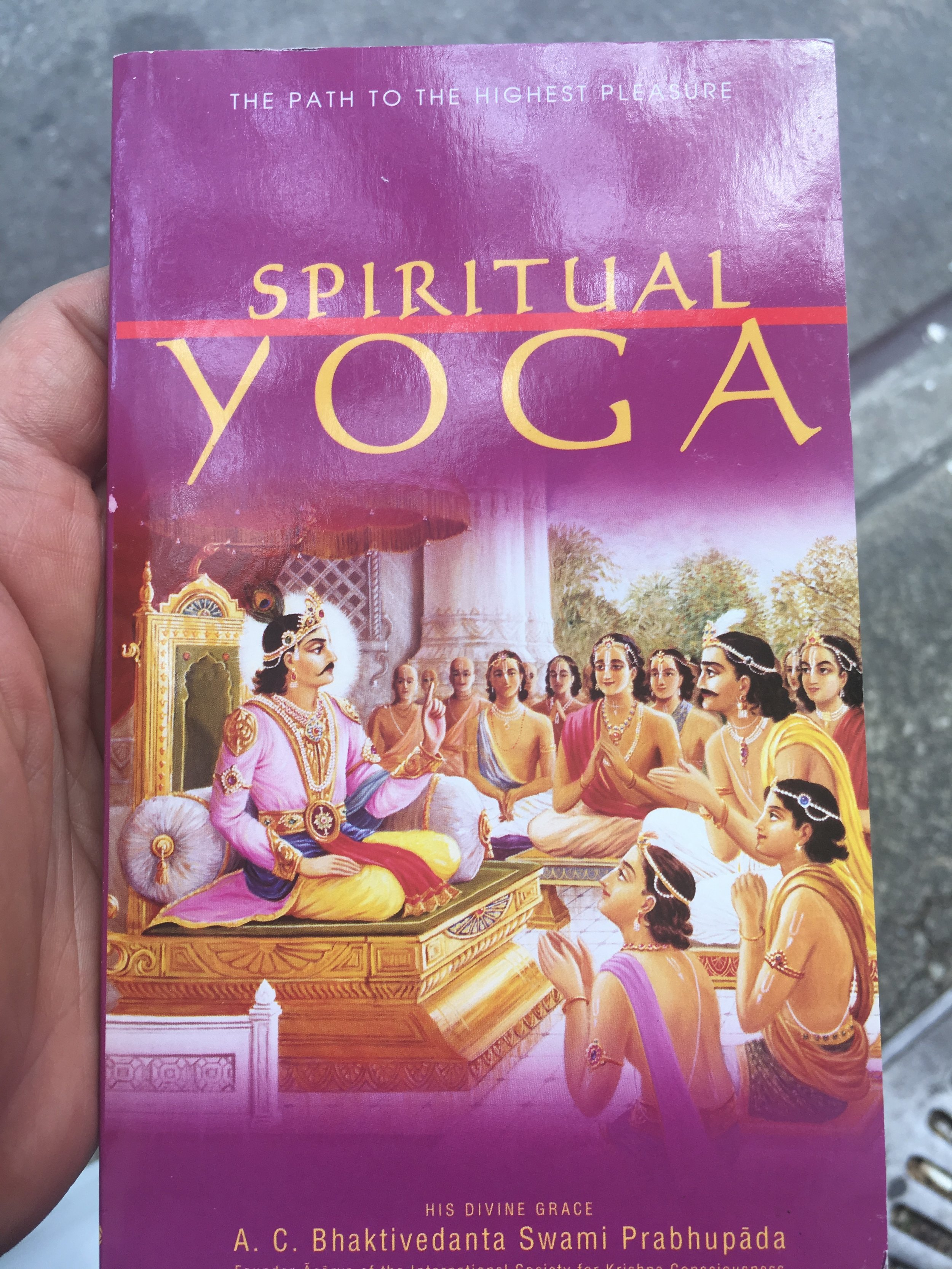 And because the Krishnas are love, a beautiful young girl invited me to their festival in Washington Square park and gave me this ^