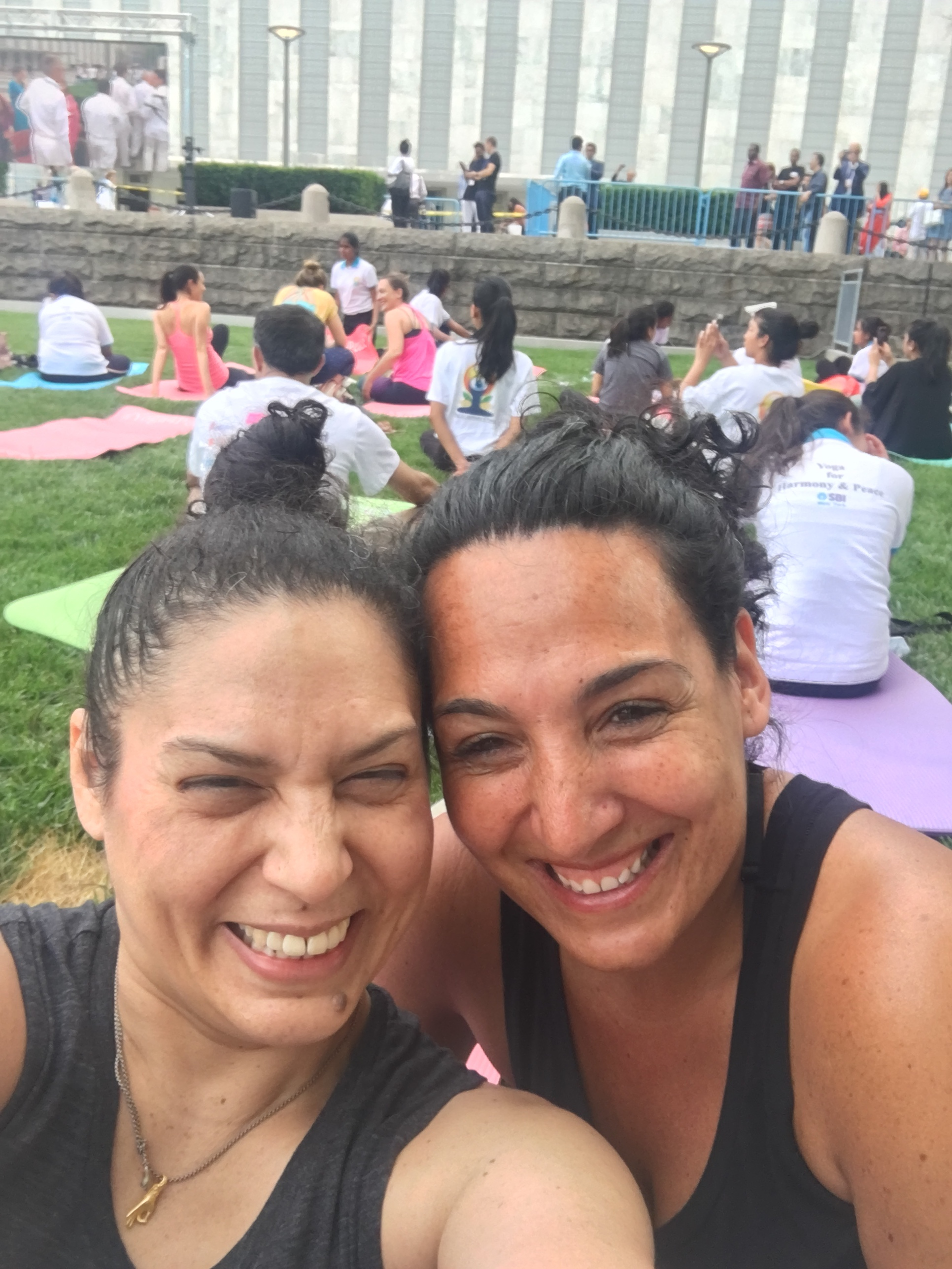 Me and my yogic partner in crime, Veronica
