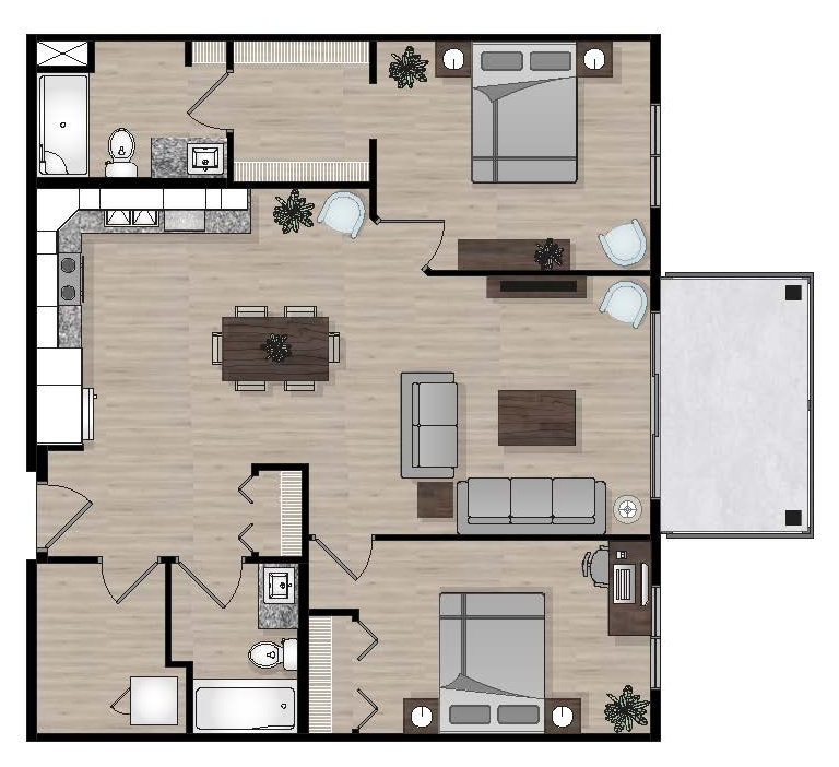 SUITE A6 - 1,003 SQ.FT2 BEDROOM2 BATHROOM