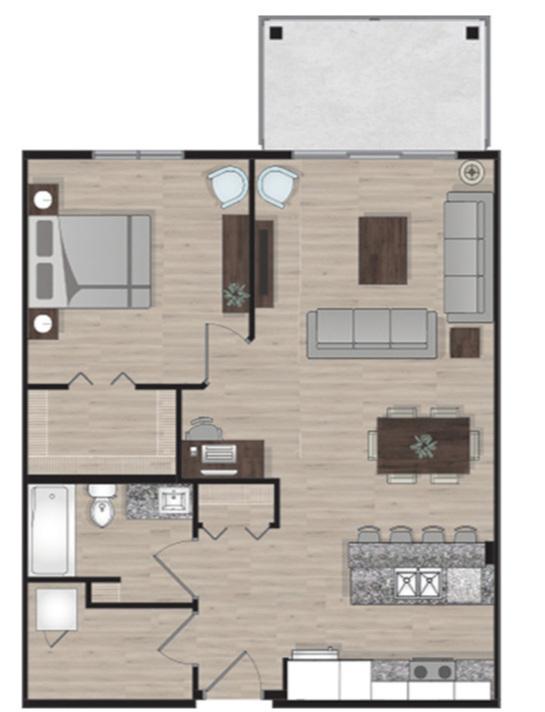 SUITE C2 - 780 SQ.FT1 BEDROOM1 BATHROOM