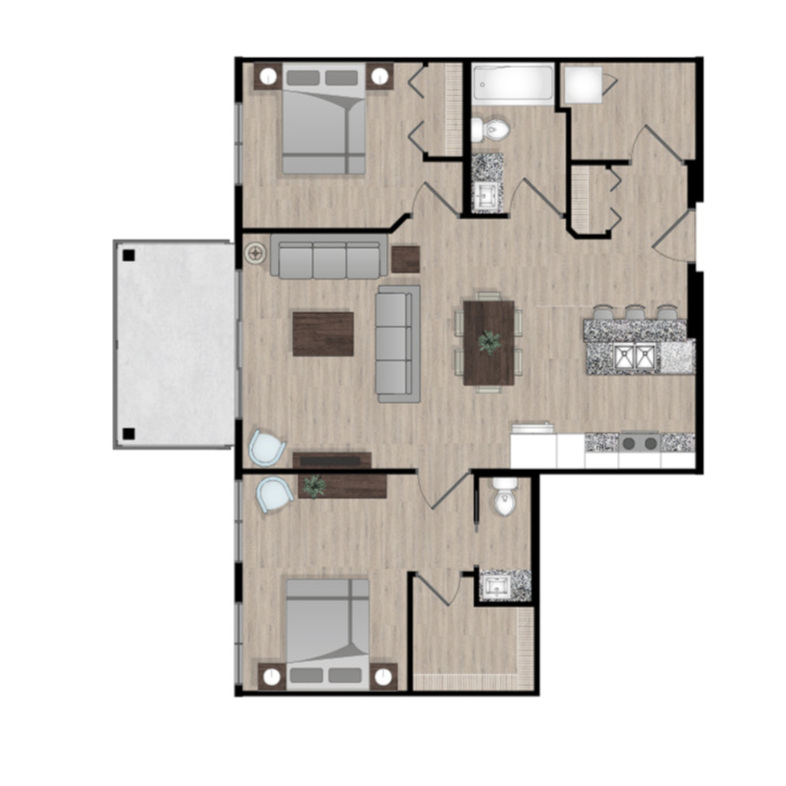 SUITE A3 - 946 sq.ft.