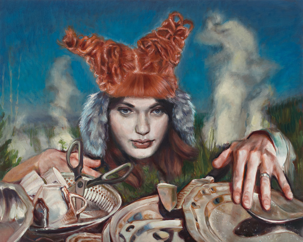 'She stopped giving dinner parties because she couldn't bear the anxiety of getting everything ready on time' 130x160cm, oil on linen, 2012