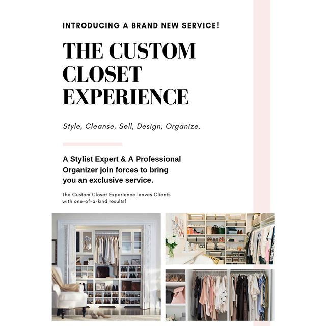 Very excited to announce my collaboration with the talented organizer and efficiency expert  @lifestyle_organizer to bring our clients The Custom Closet Experience!✨ A specialty service offering both of our expertise to create the most fabulous closet spaces while also styling your entire wardrobe!••• Change the way you get dressed! Change the way you appreciate your clothes! Love your closet! •••Now booking consultations 💁🏼♀️💫💁🏻♀️ #bedroom #organization #styling  #custom #closets #ideas #home #organize #style #design #tidy #neat #efficient #functional #space #lifestyle