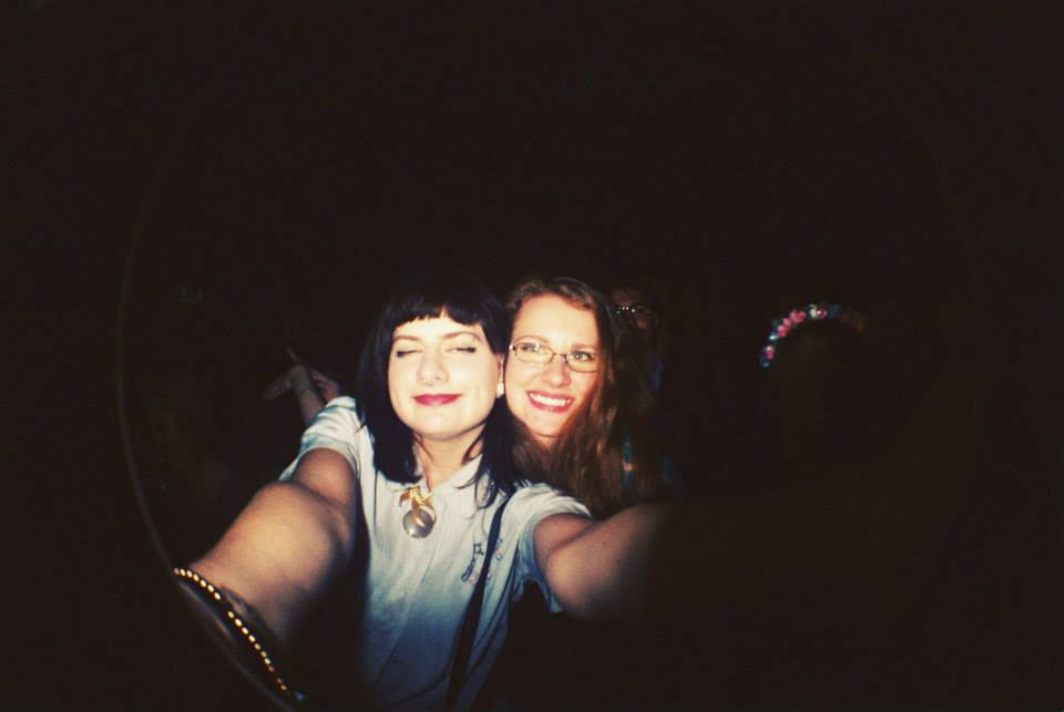 Mandy and Rachel at the Yelle concert, Lyon, 2015.