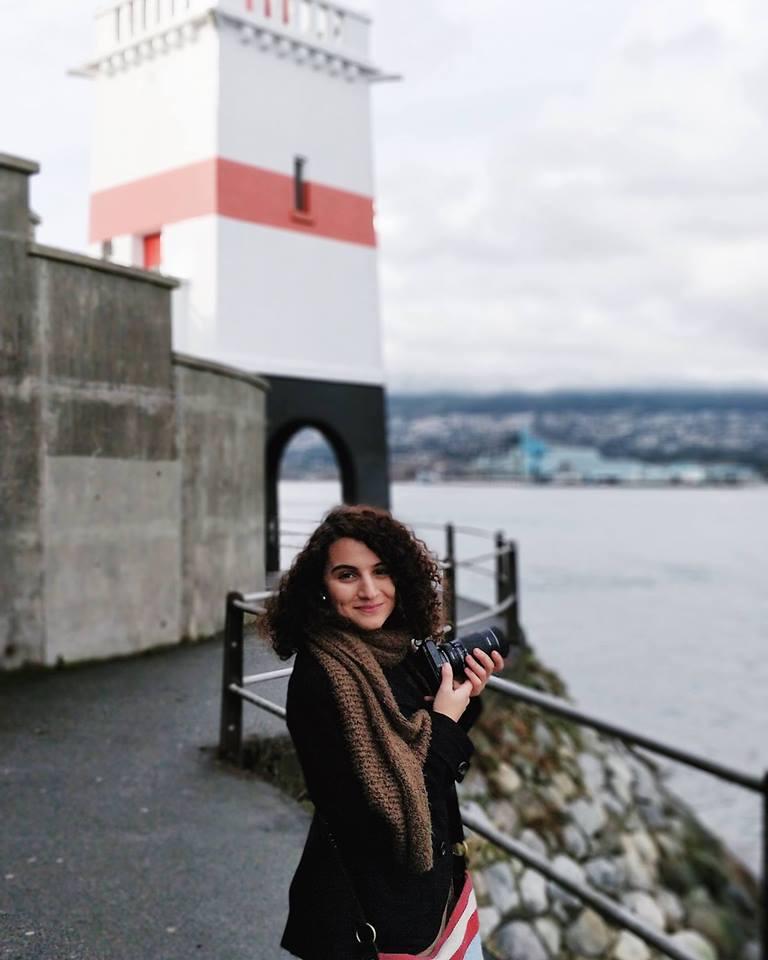 Salma at Brockton Point Lighthouse