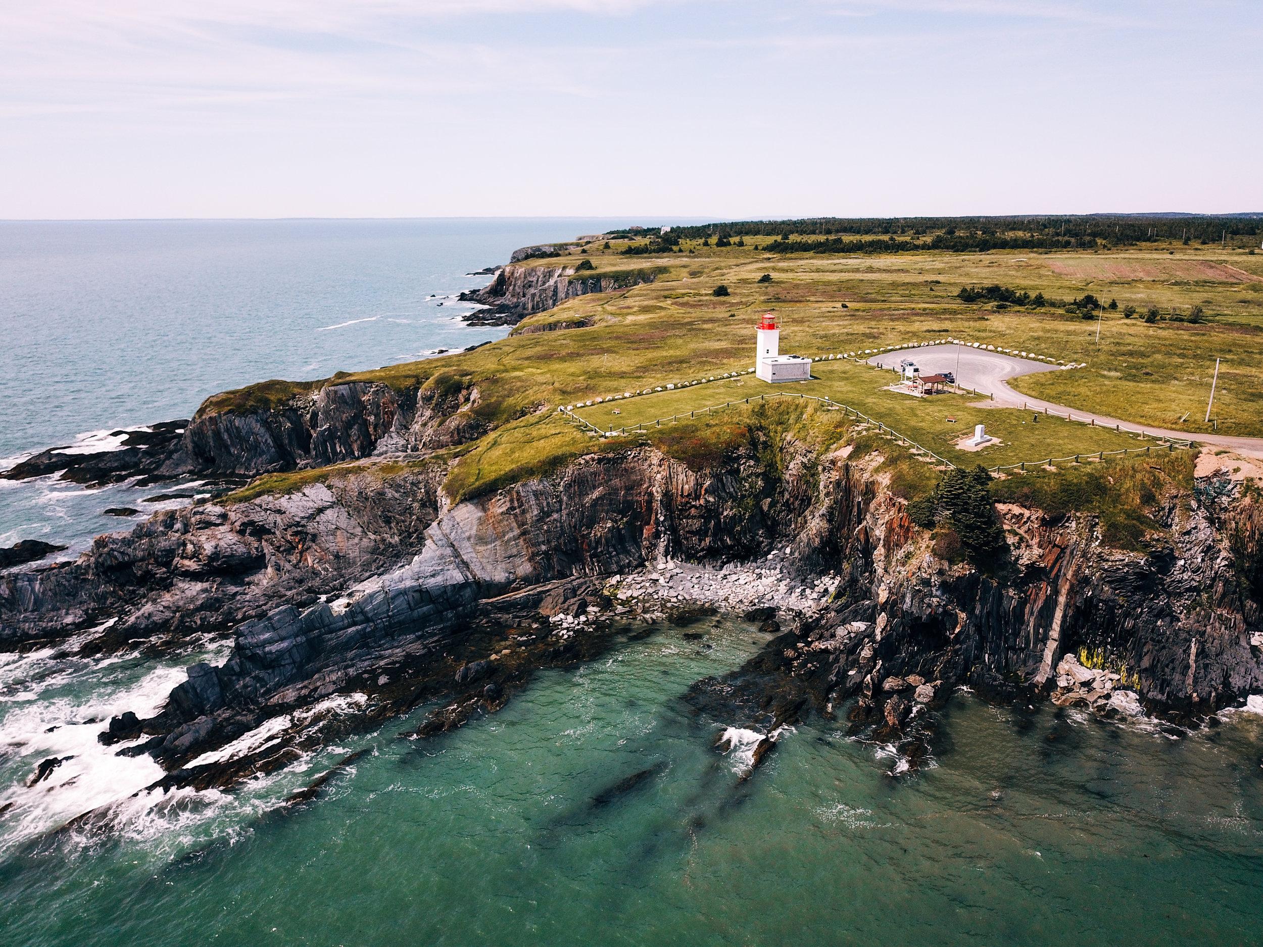 Drone shot of Mavillette Beach in Nova Scotia by Hailey