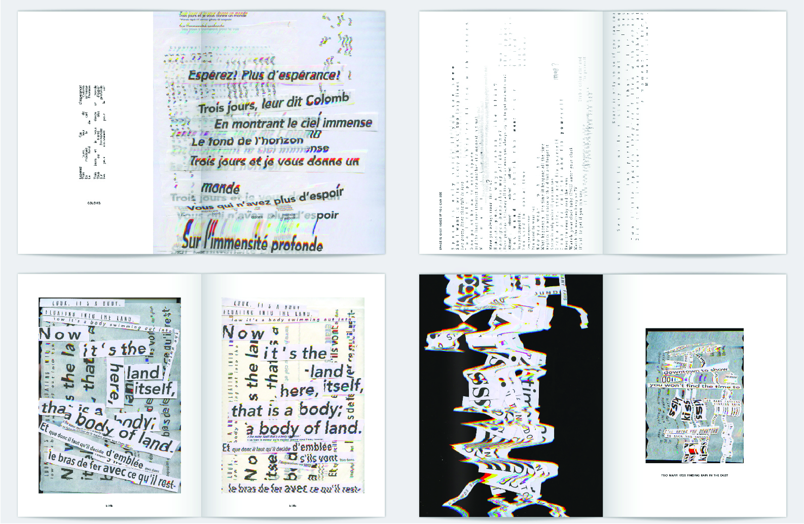 "Lyric Booklet for Nicholas Jaar's album ""Space is Only Noise"" designed by Hailey"