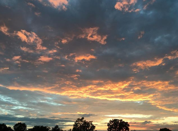 One of the redeeming qualities of the Midwest, according to Eric, are the region's spectacular sunsets.
