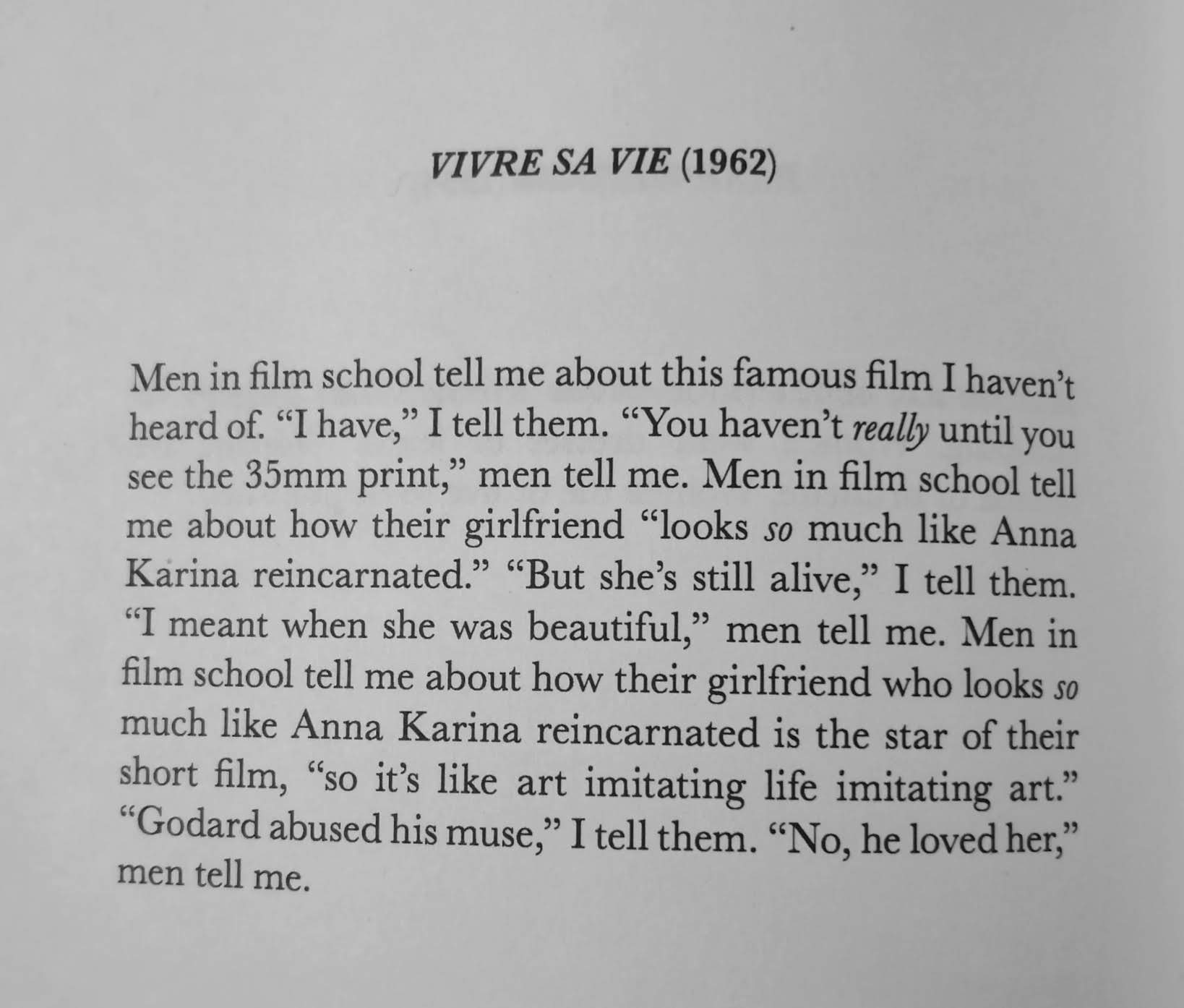 """Vivre sa vie  (1962)"" from  How Do I Look?"