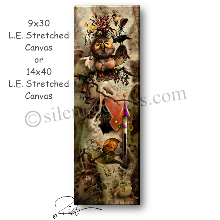 14x40 L.E. stretched canvas (gallery edition) - Digital painting produced as 14