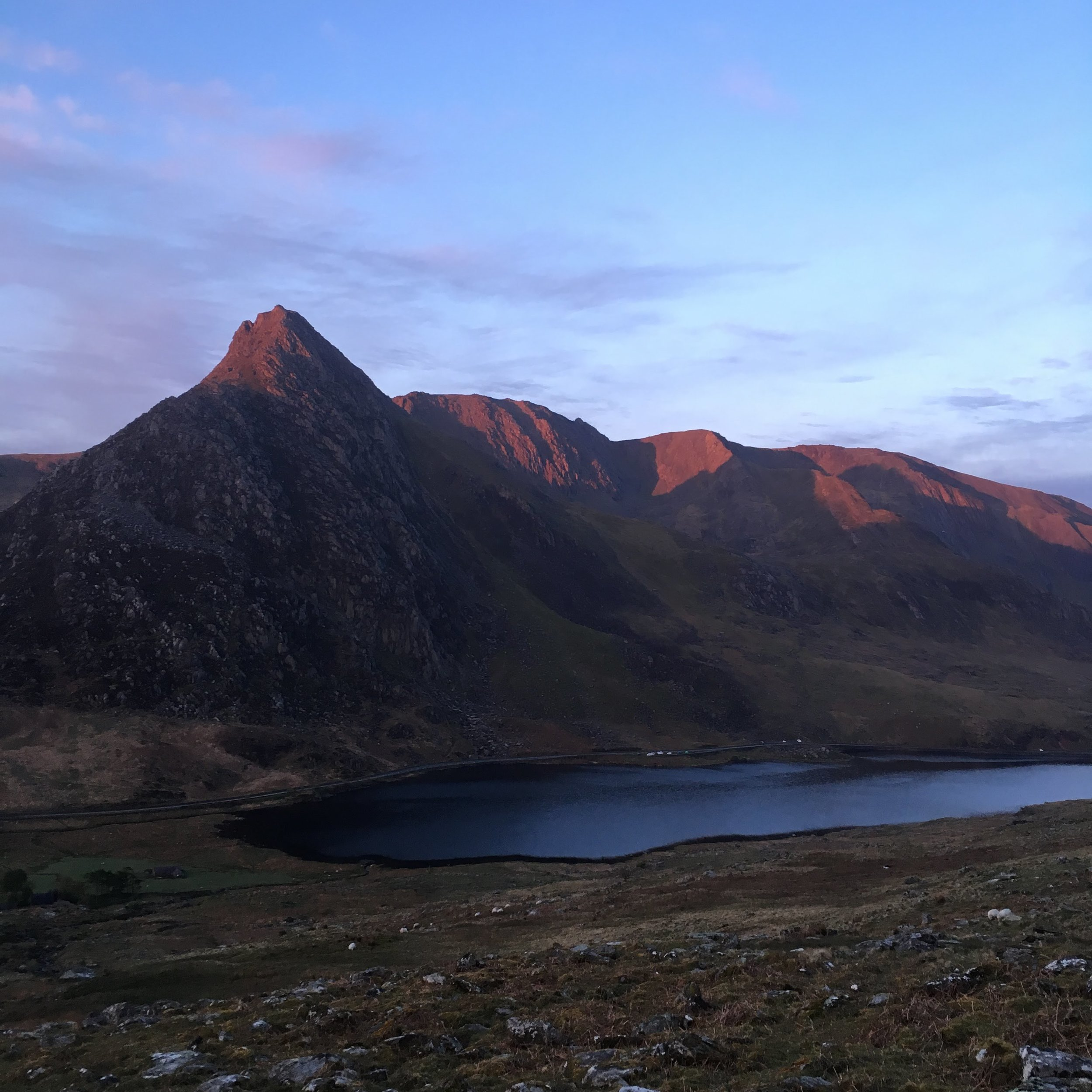 Tryfan and the Glyders in the morning light