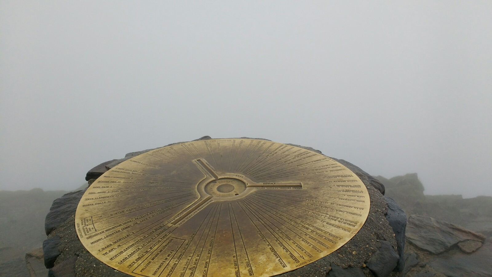 Snowdon summit. What did you expect?