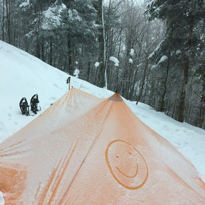 November: snow-shoeing micro-adventure in the Vosges