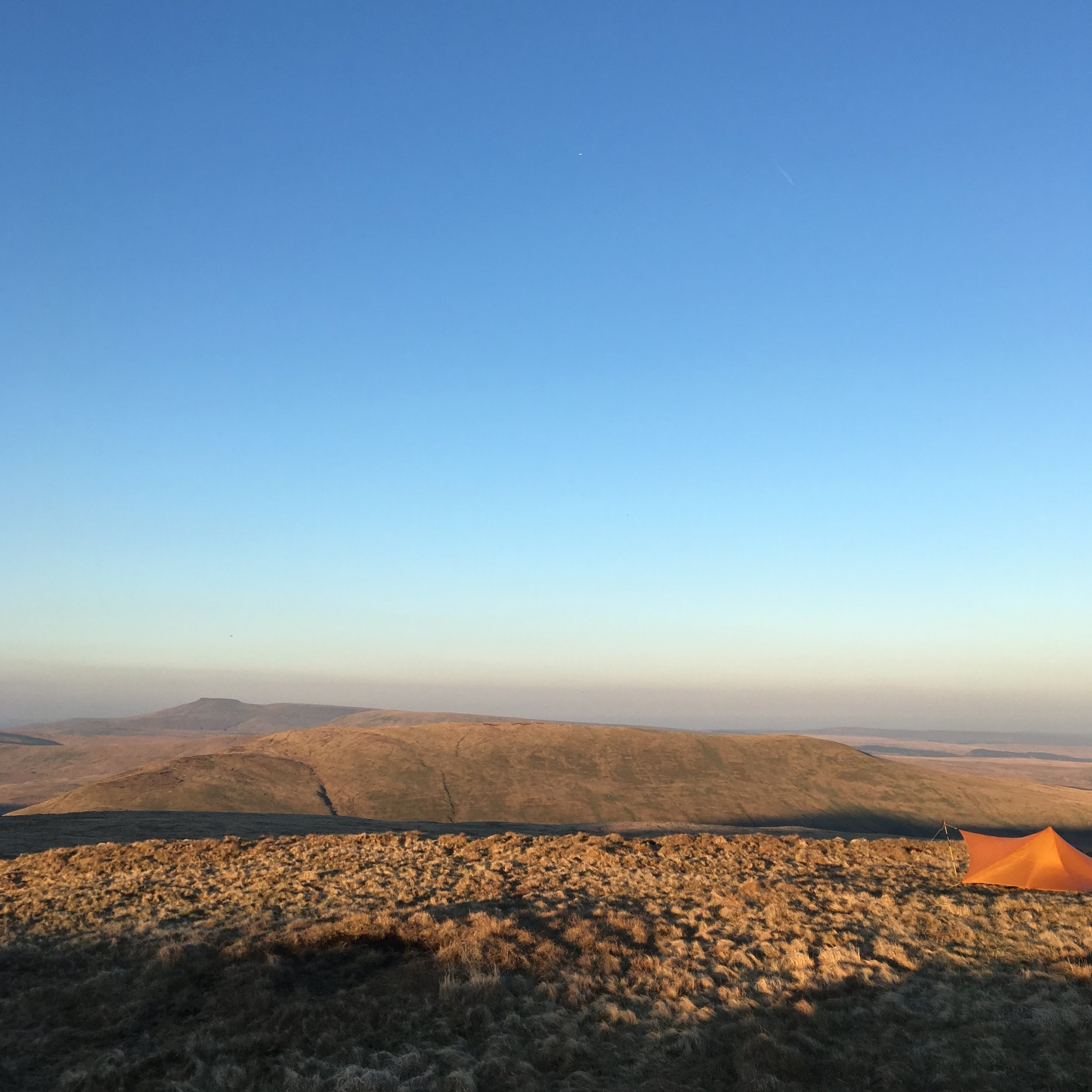The MLD Trailstar, looking out over Pen y Fan and Corn Du